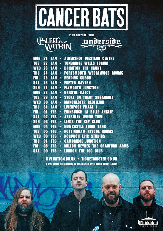 Cancer Bats 2019 tour poster