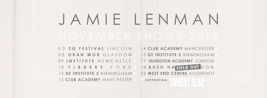 Jamie Lenman tour header