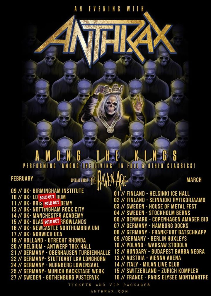 Anthrax Among The Kings tour poster