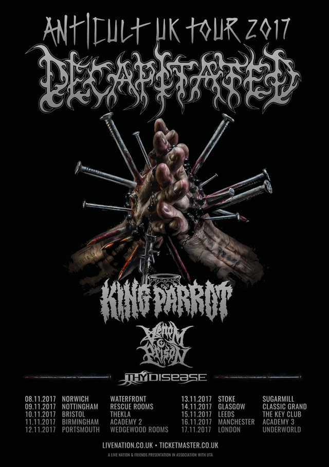 Decapitated Anticult Tour Poster 2017