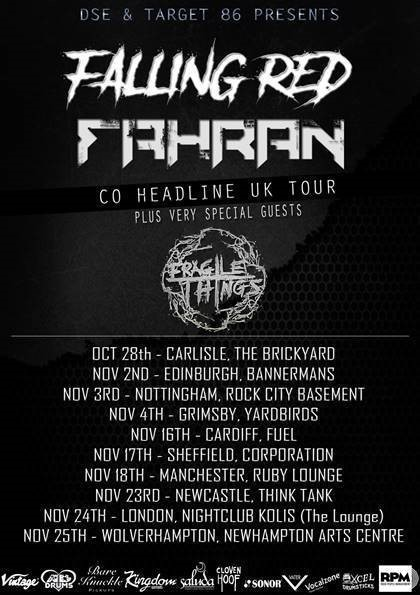 Falling Red Fahran tour poster