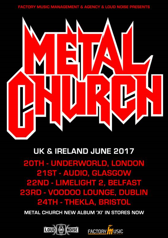 Metal Church 2017 Tour Poster