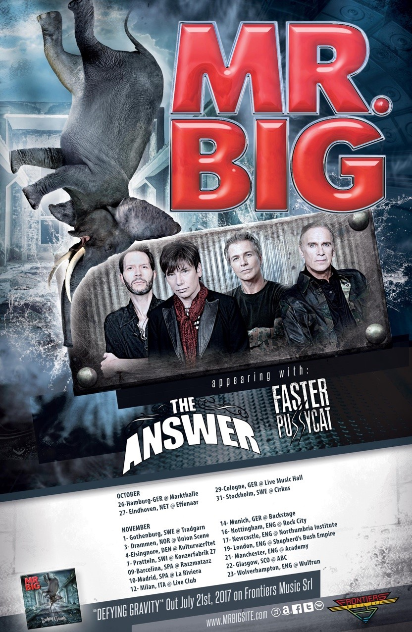 Mr Big tour poster