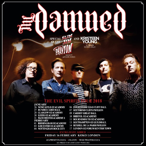 The Damned 2018 tour poster
