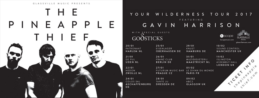 The Pineapple Thief tour header